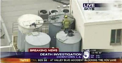 2月19日,警方在洛杉矶一家酒店顶层水箱里发现蓝可儿的尸体。