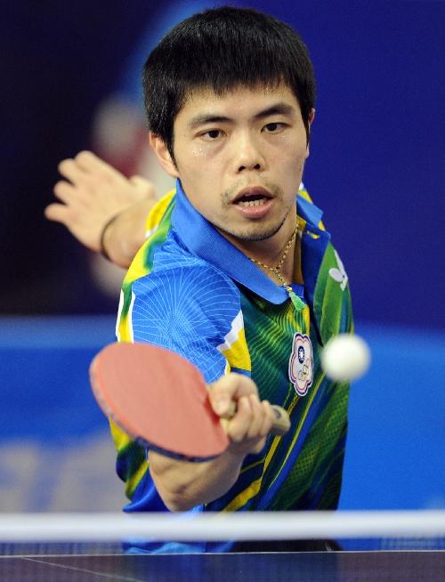 2013卡塔尔乒乓球公开赛 庄智渊蓄须