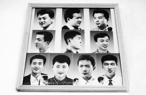 朝鲜理发店墙上都挂着两张造型图编头发的发型图片