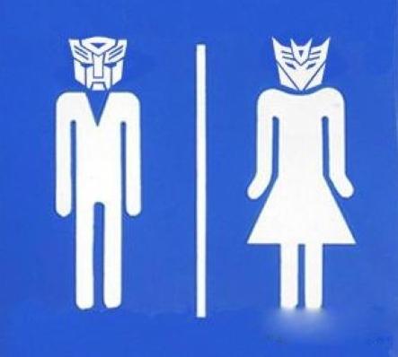 有时只是因为太匆忙,再加上厕所的标志非常有创意.图片
