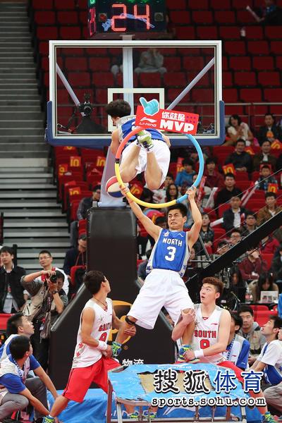 现场花式篮球表演