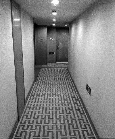 事发宾馆走廊