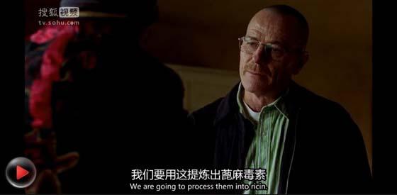 S02E01中,白老师自行提炼剧毒的蓖麻毒素