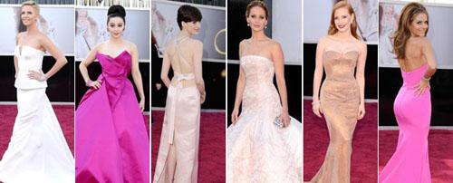 奥斯卡红毯群星斗艳,浅色礼服成为今年的流行趋势(点击看红毯点评)