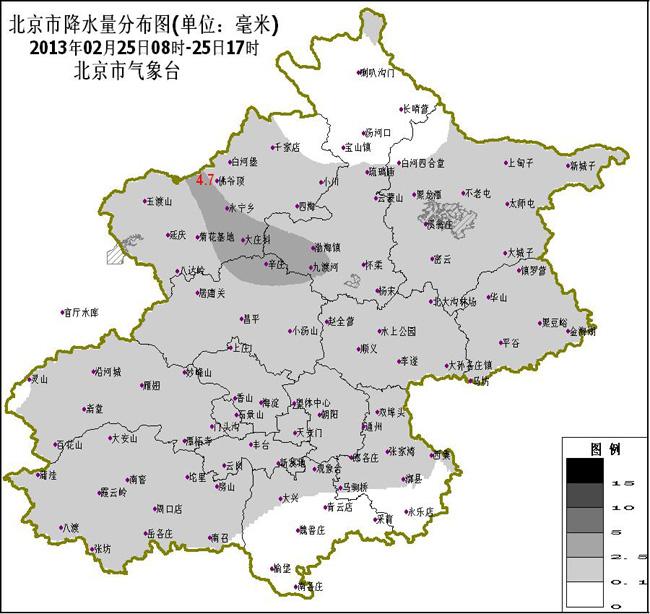 今天白天,全国范围内的雨雪范围有所发展,但无论是华北地区的