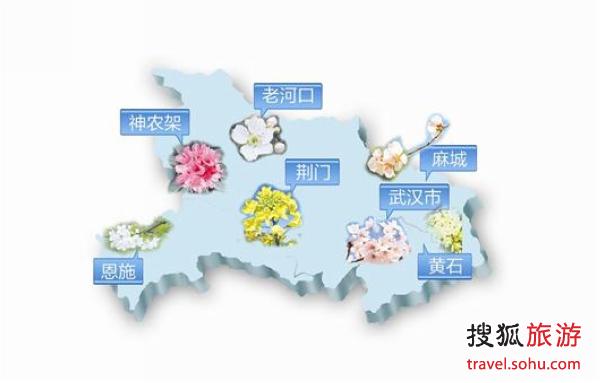 湖北春季赏花地图 发布