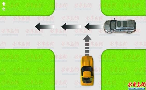 当路口没有红绿灯时,直行车辆应当让右侧来车先行.