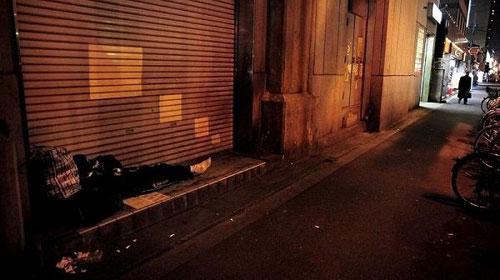 组图:日本街头的落魄穷人