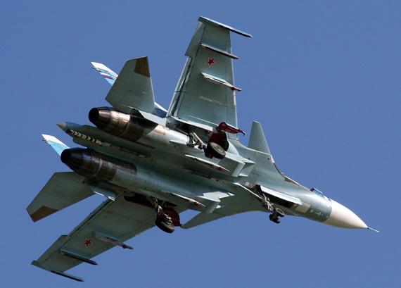 苏-27K(又称苏-33)舰载机。