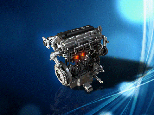 首先,E12发动机配置当前主流得16气门双顶置凸轮轴结构,有效提高了进排气效率。其次,E12发动机采用了高压缩比技术,通过对发动机活塞行程进行精确设置,使得进入缸体的空气和汽油结合更加紧密,燃烧更加充分,产生较大的动力输出。第三,E12发动机通过对燃烧室及气道的优化设计,实现了合理组织气流,使充气效率接近甚至达到100%,使得E12发动机大大提升了燃烧效率。此外,采购自德国博世的智能点火系统,使E12发动机能够在汽油与空气融合到最佳程度时实现点火,使得汽油与空气充分燃烧。E12发动机还使用了新型高分子