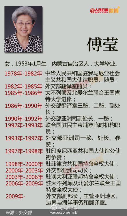 人代会首位女发言人傅莹亮相(图/简历)
