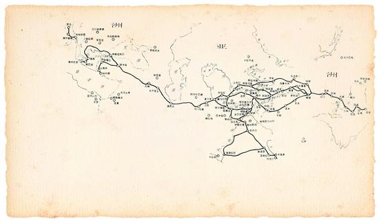 古丝绸之路地图.