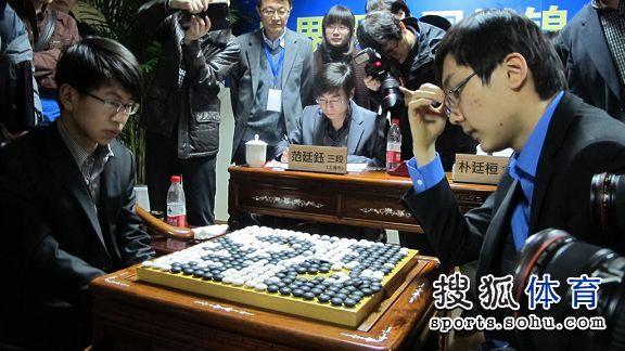 图文:应氏杯决赛赛后 终局时场景