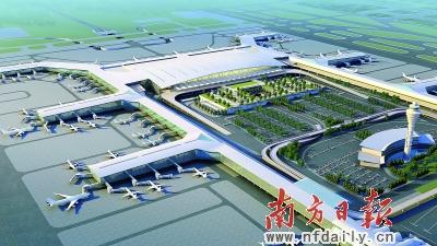 白云机场扩建效实图。