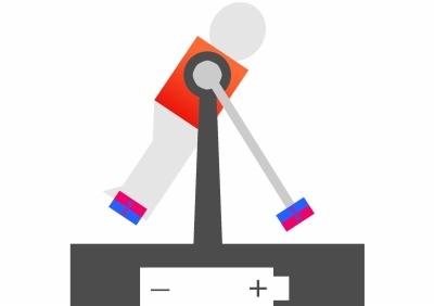 同性相斥_小磁铁片同性相斥磁铁片底端电池加强磁力