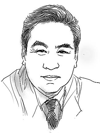 人物素描:郭红松图片