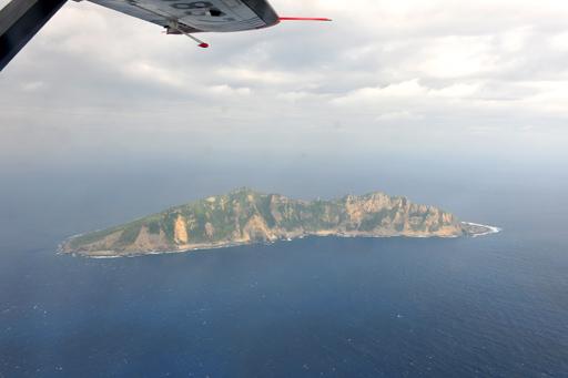 资料图:中国海监B-3837飞机抵达我钓鱼岛领空。