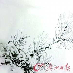 手绘松针树画法