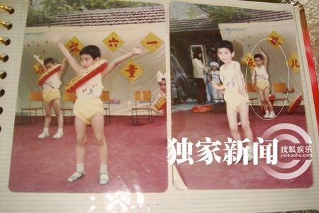 1987年六一汪小菲幼儿园演出时留影