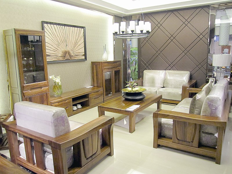 赖氏家具金丝乌金木系列沙发图片