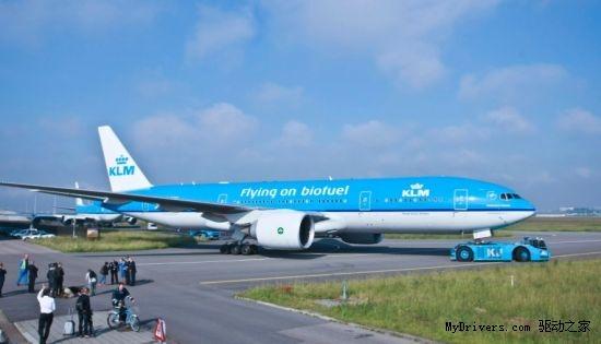 荷兰航空实现首个生物燃油驱动的跨洋航班