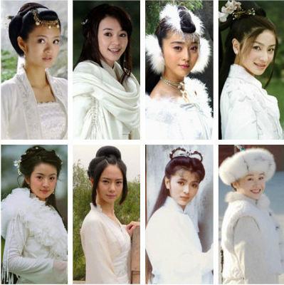 装白衣美女组图