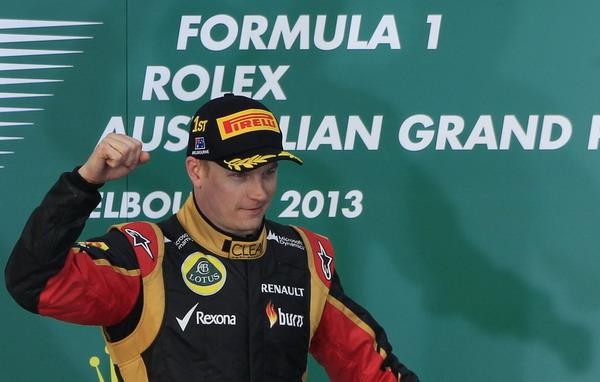 图文:F1澳大利亚站正赛 莱科宁登上领奖台
