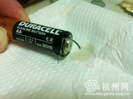 金霸王5号电池无故爆炸(图)