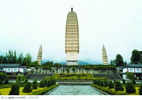 大理崇圣寺三塔,造型优美