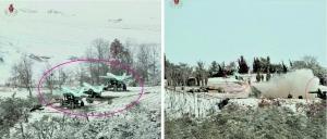 朝鲜公开的照片上显示,在3辆牵引车辆上各自搭载了一架无人机,无人机还进行了发射训练。