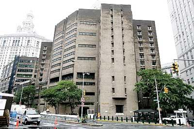 部分嫌犯被拘禁在纽约华埠柏路上的联邦大都会拘留所。档案照片