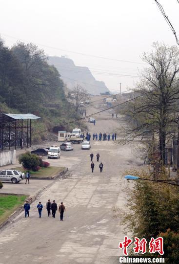 江西永平铜矿爆炸事发现场。 艾世民 摄