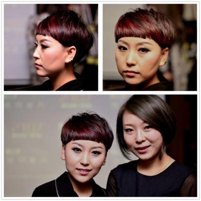 设计师张瑞与发型模特