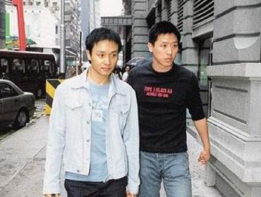 张国荣(右)生前对唐唐有无限的依赖 两人个性互补