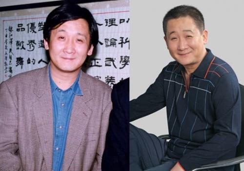 54岁的梁天淡出了人们的视线做起了幕后,年轻的梁天一副干瘦的图片
