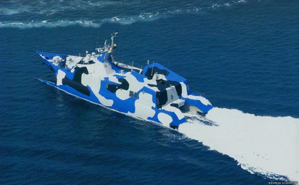 资料图:中国海军022型导弹艇.