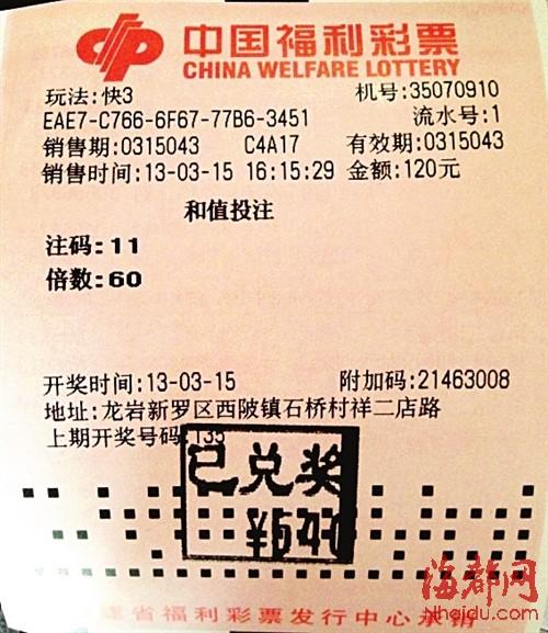 福彩快3我最爱 和值中奖很频繁(图)