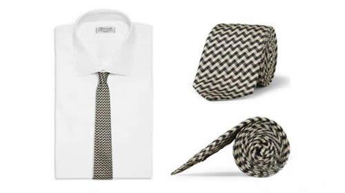 几何花纹领带
