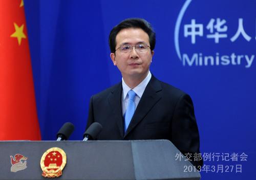 2013年3月27日,网上兼职有哪些工作,外交部发言人洪磊主持例行记者会。