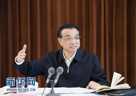 3月29日,中共中央政治局常委、国务院总理李克强在上海召开部分省市经济形势座谈会时,与大家深入讨论。 新华社记者 李学仁 摄