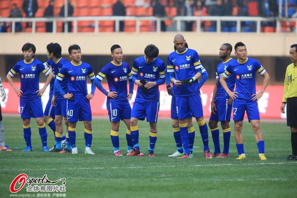 中超图:阿尔滨3-3东亚 阿尔滨队员黯然