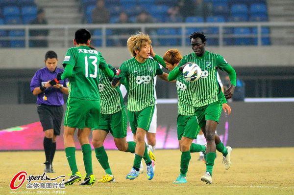 2013年中超第3轮:天津泰达2-2杭州绿城