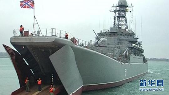 俄罗斯总统普京3月28日下令,在黑海海域举行大规模突击军事演习。 这是俄罗斯国家电视台3月28日播放的俄军黑海海域军演的电视画面。(新华社)