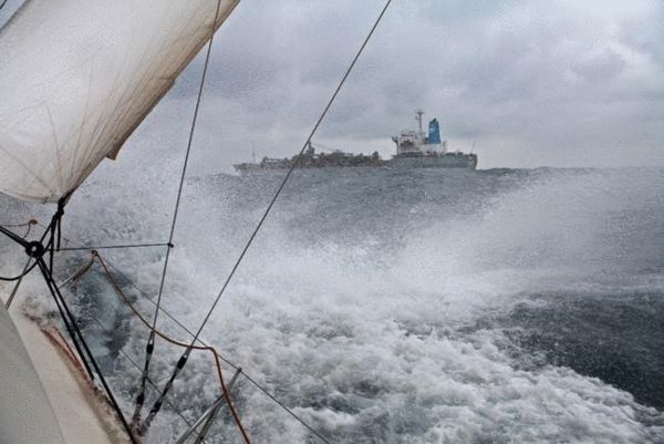台湾海峡的大浪