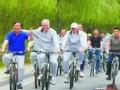 自行车 在路上