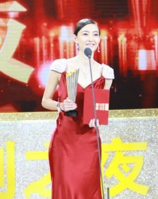 王丽坤获观众喜爱的最具潜质女演员奖.jp