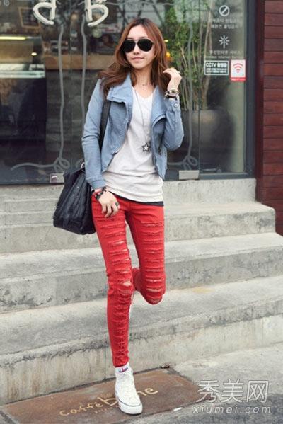 帆布鞋,简单帅气的搭配风格