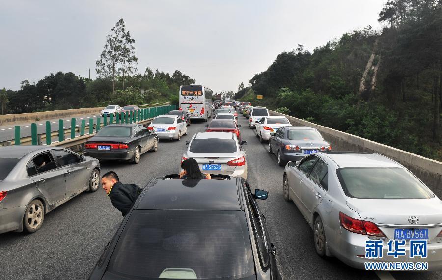 4月6日17时,泉南物理广西柳州往南宁高速六景方向堵车出现.v物理高中生路段2017图片