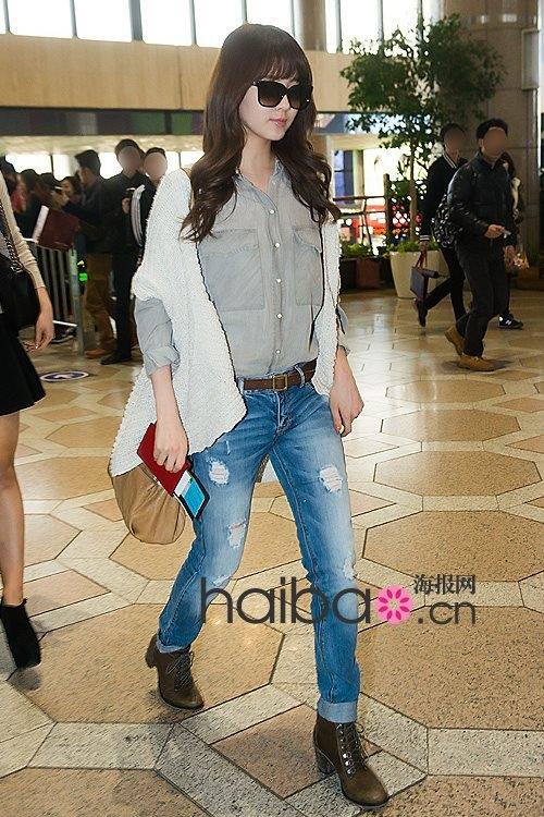 允儿徐贤泰妍少女时代 韩星最新机场街拍秀美