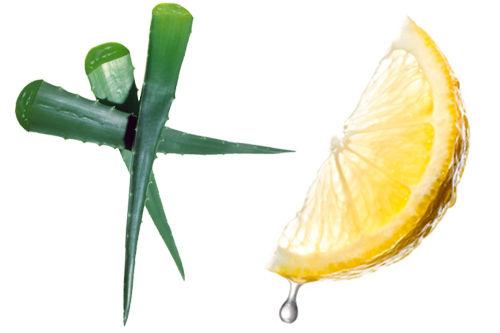 一,芦荟柠檬洁面水   材料:芦荟叶1片,柠檬半个   做法:芦荟去皮